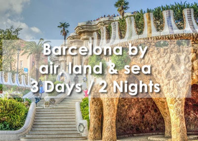Barcelona by Air, Land & Sea