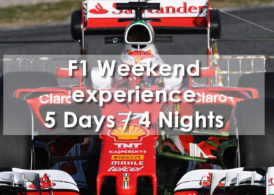 F1 Weekend experience